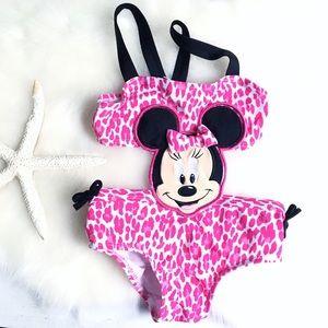Disney • Animal Print Minnie Mouse Swimsuit 9M